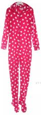 NEW $58 Jenni Pretty In Pink Polka Dot Hooded Footed Pajamas S or XL LAST ONES