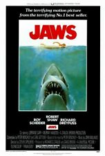 Jaws Movie Poster Rolled 1975 Steven Spielberg Richard Dreyfus White Shark 27X40