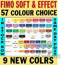 1 Block FIMO SOFT & EFFECTS polymer clay 48+ COLOURS & fast posting