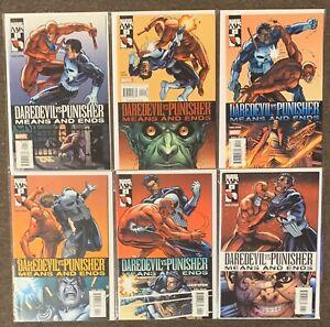 Daredevil Vs Punisher Means And Ends #1,2,3,4,5,6 Marvel Comics David Lapham Lot