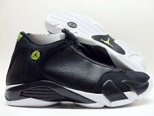 NIKE AIR JORDAN 14 RETRO BLACK/WHITE-VIVID GREEN SIZE MEN'S 10 [487471-005]