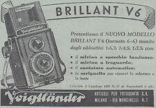Y3964 Macchina fotografica Voigtlander BRILLANT V6 - Pubblicità - 1938 old ad