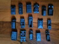 old vintage MPC military or army vehicles cars tanks lot small miniature bluish