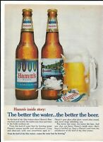HAMM'S BEER 1967 Print Ad ~ From the land of sky bule waters