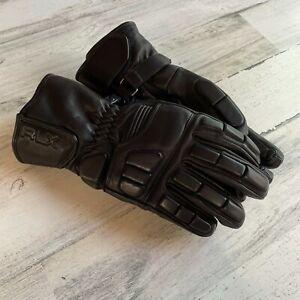 RLX Ralph Lauren Leather Wool Moto Gloves Size XS