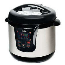 Elite Platinum 8-qt. Stainless Steel Electric Pressure Cooker - Best Price