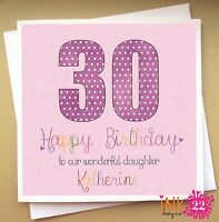 Personalised Birthday Card, Daughter, Mum, Friend, Aunt, Sister, 30th,40th,50th