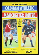 Oldham Athletic v Manchester United   FA Cup Semi Final   8-4-1990