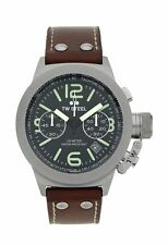 TW Steel Men's Canteen TWCS23 Chronograph Strap Watch.