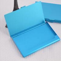 Wallet Stainless Steel Look Metal Business ID Credit Card Holder Case BluePocket