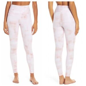 Zella Live In High Waist 7/8 Leggings Pink Chintz White Brushstroke XS 0 2
