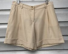MILLY Ivory Shimmer Cuffed Shorts