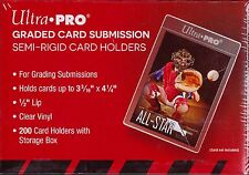 Ultra Pro  200 count box semi rigid card holder graded card submission #43000