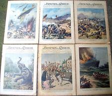 1940 GUERRA IN ERITREA E SOMALIA COLONIALISMO LOTTO 5 DOMENICHE DEL CORRIERE