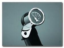 Highway Hawk Oil Pressure Gauge - Universal  - 48 mm w/ bracket - Black Face