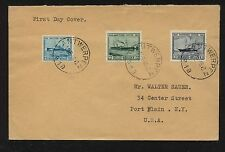 Belgium  set of ship stamps on cover  1946         KL0113-10