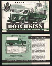 HOTCHKISS PL 50   prospectus   camion  11 cv     5 tonnes 1948-1954