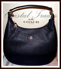 NWT $425 Coach Large Leather Harley Hobo Shoulder Bag MIDNIGHT NAVY BLUE RECEIPT