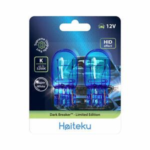 HAITEKU 7443 W21/5W T20 580 Dual Filament Sidelight DRL Super White Bulbs