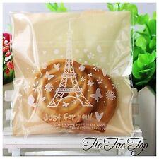 20x Paris Eiffel Tower Self Adhesive Bag Cookies Lolly Loot Macaroon Chocolate