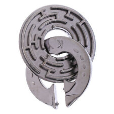 1Pc IQ Mind Puzzles Metal Brain Teaser Locking for Children Adult Toys Gift