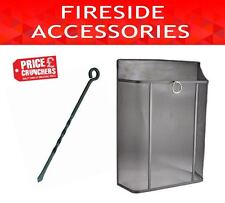 Fireguard Screen Black Spark Safety Cover Nursery Protector and Fireside Poker