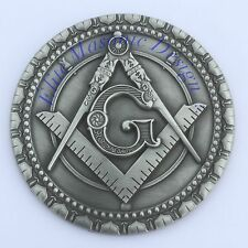 Masonic Master Mason car emblem silver