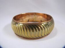 Brass Bangle Bracelet Copper India with Pattern NOS Bangle Bracelet Vintage