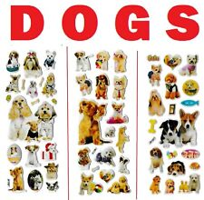 3D puffy Stickers DOGS 🐕🐶 PUPPIES dog puppy bone dish box kitten catz