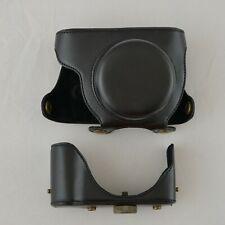 Lumix GF5 black leather full case, ever ready, Panasonic, custom, pancake lens