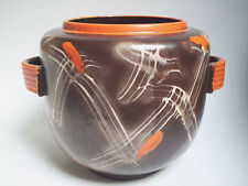 Art Deco Bowle Topf Carstens Uffrecht Keramik Germany Bauhaus Pottery Uranglasur