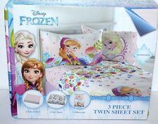 DISNEY FROZEN ELSA ANNA TWIN BED SHEET MICROFIBER 3 PIECE BEDSHEET SET GIRLS