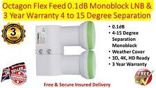 Octágono flex alimentación LNB Monoblock 0.1dB y 3 Año de Garantía de 4 a 15 grados de separación