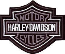 Harley Davidson Aufnäher/Patch silber Bar & Shield Größe ca. 7,7 cm x 6,5 cm