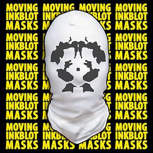 Halloween Costume Rorschach Moving Inkblot Mask - Psychotic