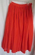 Vtg Rita Strauss Red mini pleat full skirt Size M