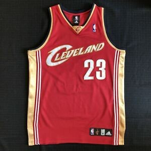 NBA AUTHENTIC LeBron James Cleveland Cavaliers Adidas Road red jersey 40