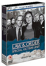LAW AND ORDER SPECIAL VICTIMS UNIT COMPLETE SEASON TEN (10) R2 DVD SET 5-DISC VG