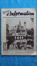 REVUE D'INFORMATION DES TROUPES FRANCAISES D'OCCUPATION EN ALLEMAGNE N° 45 -1949