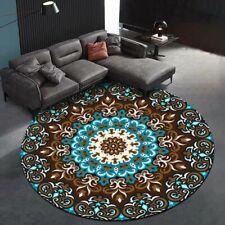 Mandala Flower Round Carpets Rugs Bedroom Living Room Chair Anti-Slip Floor Mat