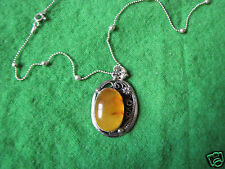 Antique Old Natural Baltic amber 10 g USSR Necklace Sterling Silver 925 antik