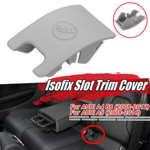 Grey Rear Child Seat Safety ISOFix Cover For Audi A4 B8 A5 KN! // HL