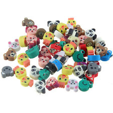 50Pcs Mixed 3D Bear/Chick/Panda/Frog Polmer Clay Loose Charm Beads Making DIY