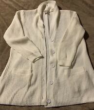 Blair Cardigan Button Up Sweater White Size L