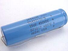 Sprague B5493132-6 Capacitor 15Uf 450Vdc D71017 8634L b290
