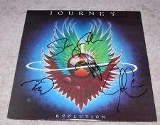 JOURNEY BAND SIGNED EVOLUTION ALBUM VINYL RECORD W/COA NEAL SCHON SMITH X4 PROOF