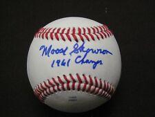 Yankee Great Moose Skowron Auto Mlb Ball Inscribed 1961 Champs W/Coa !