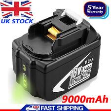 18V for Makita 9Ah Li-Ion LXT BL1890B Battery BL1860 BL1850 BL1830 LED Indicator