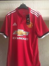 Manchester United Home football shirt 2017 - 2018 Adidas Small Size NEW W/ Tags