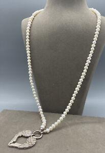 Wunderschöne Thomas Sabo 925er Silber Halskette   Mit Echten Perlen